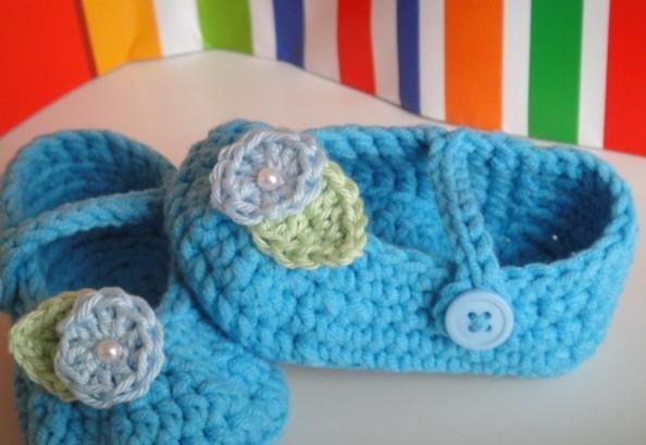 Crochet Baby Mary Jane Booties | Crochet baby, Free crochet and Socks