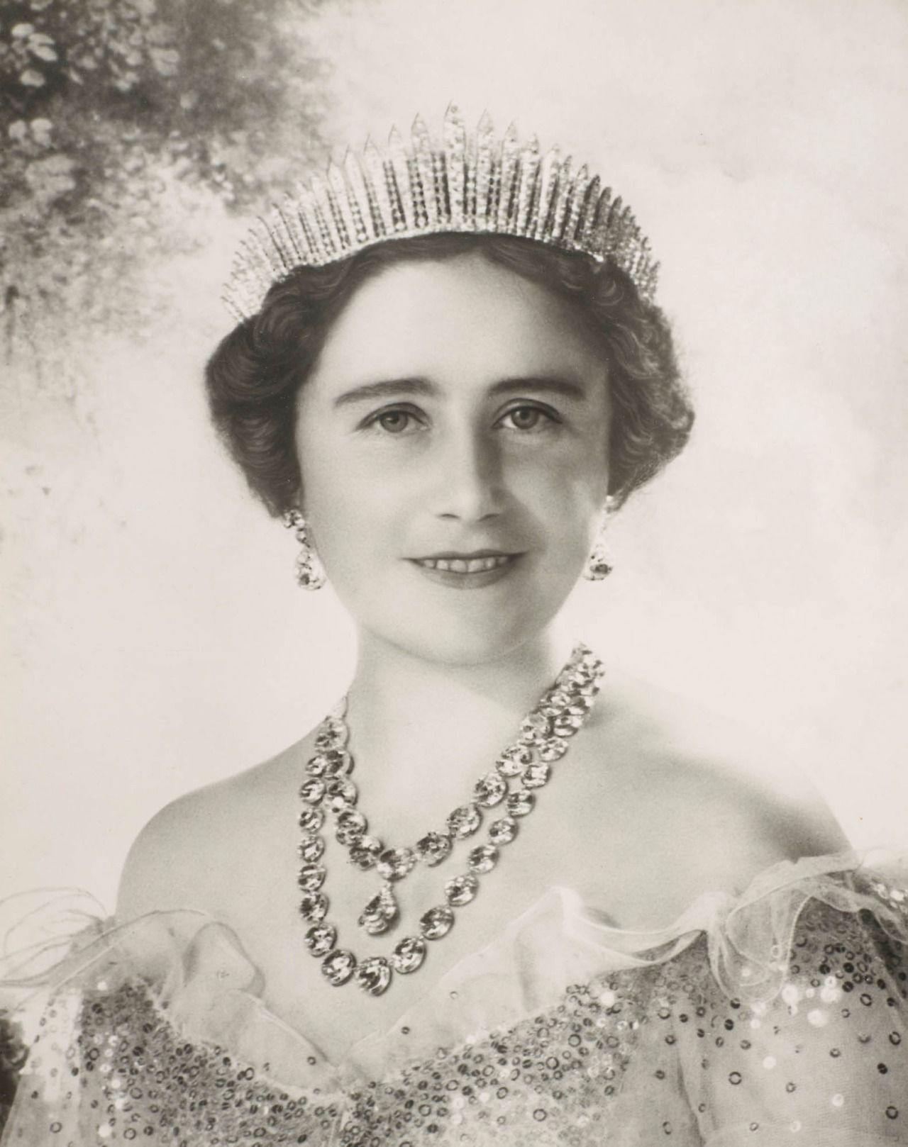 Queen Elizabeth of the United Kingdom wearing a Norman