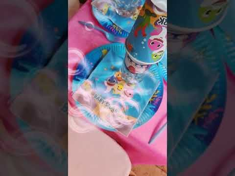 Baby Shark themed birthday party - YouTube in 2020 | Shark ...