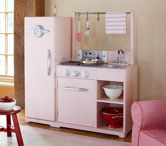 pink all-in-1 retro kitchen - pottery barn kids | gifts kids will ...