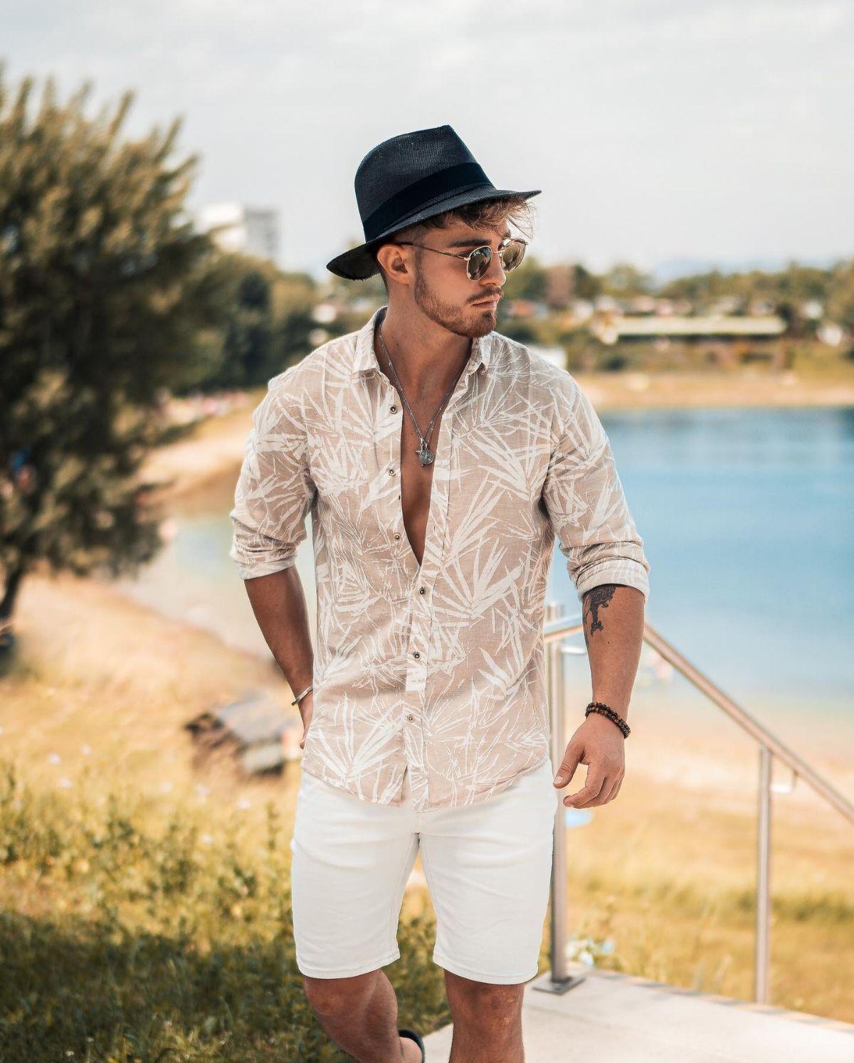 Resultado de imagem para camisas de linho curta moda masculina 2020