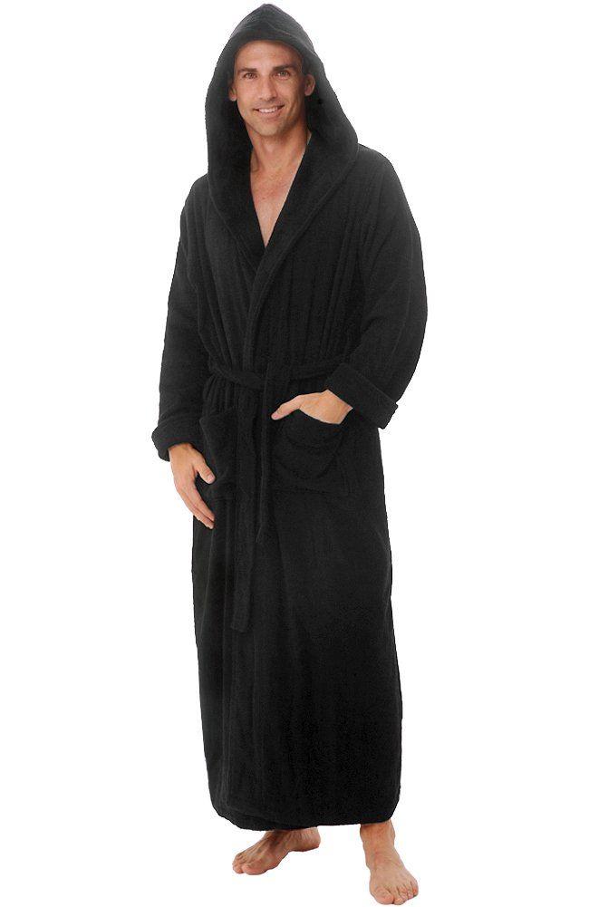 29352a54bc Del Rossa Men s Terry Cloth Cotton Hooded Full Length Bathrobe at Amazon Men s  Clothing store  Del Rossa Mens Bath Robe