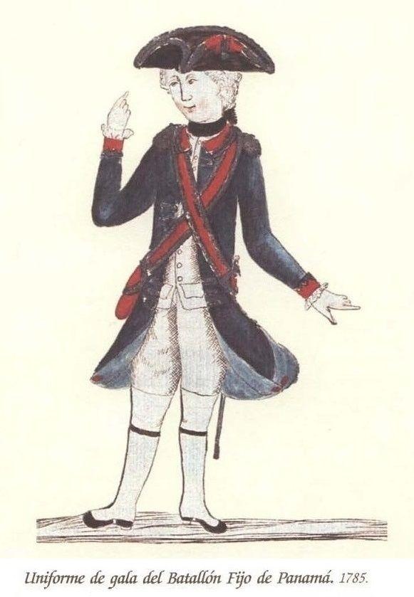 Batallón Fijo de Panamá 1785 gala