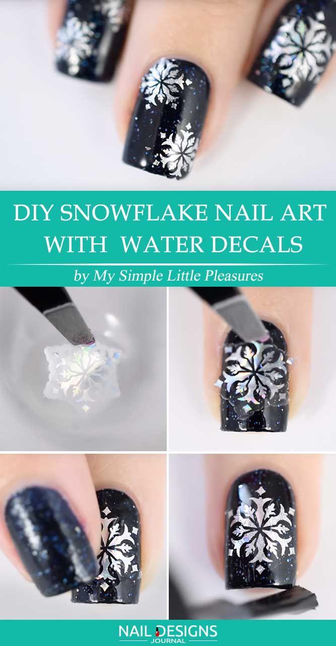 10 Best Tutorials On Snowflake Nails Designs Pinterest Snowflake