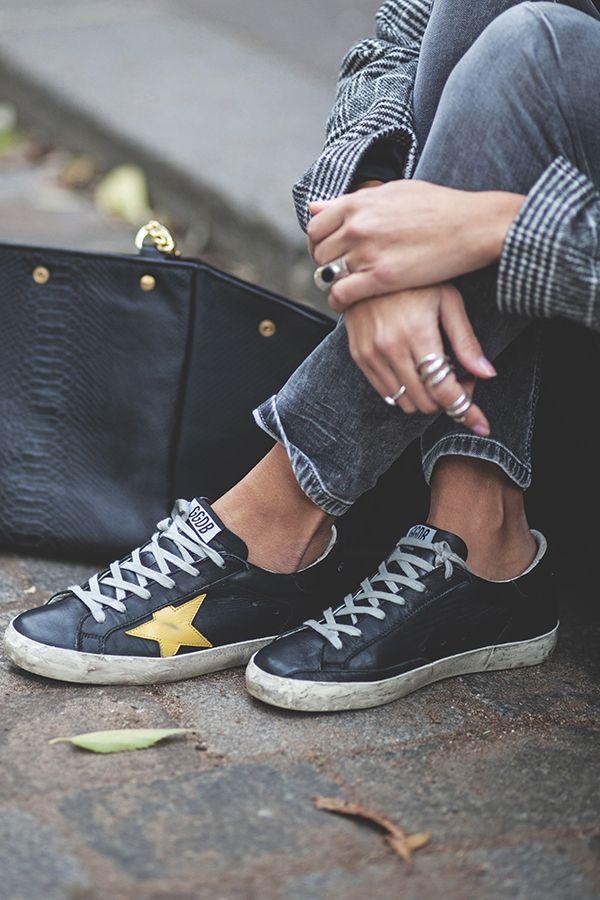 white plaid, Golden Goose sneakers