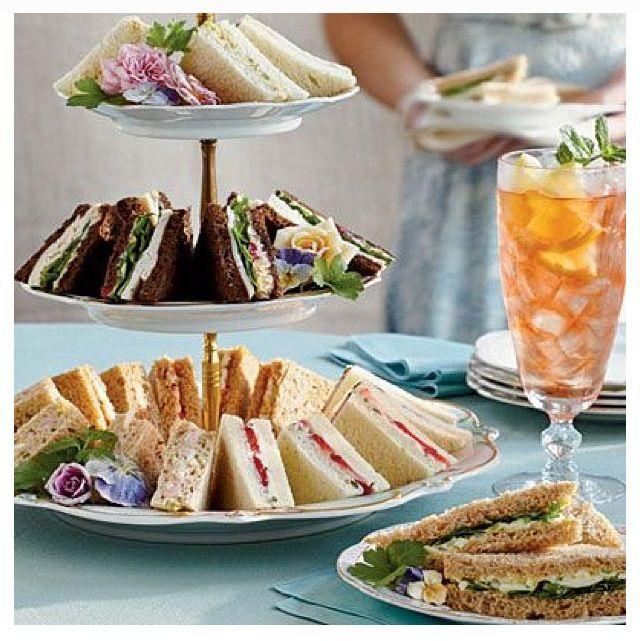 High tea sandwiches & Pimms