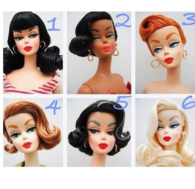 pin-up barbie doll hairstyles | rockabilly hairstyles | barbie