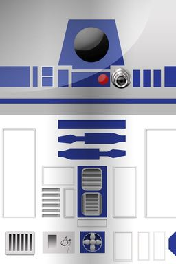 R2D2 iPhone Wallpaper by Bradley De Souza, via Behance