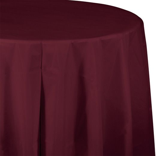 Astounding Round Table Cover Burgundy Wedding Plastic Tablecloth Download Free Architecture Designs Grimeyleaguecom