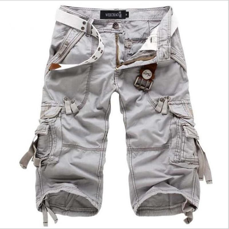 Mens Camouflage Casual Loose Fit Outdoor Summer Cargo Shorts Plus Size Baggy sz