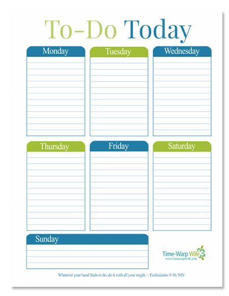 How To Stay Focused - And a Free Printable Stay focused, Free - chores schedule template