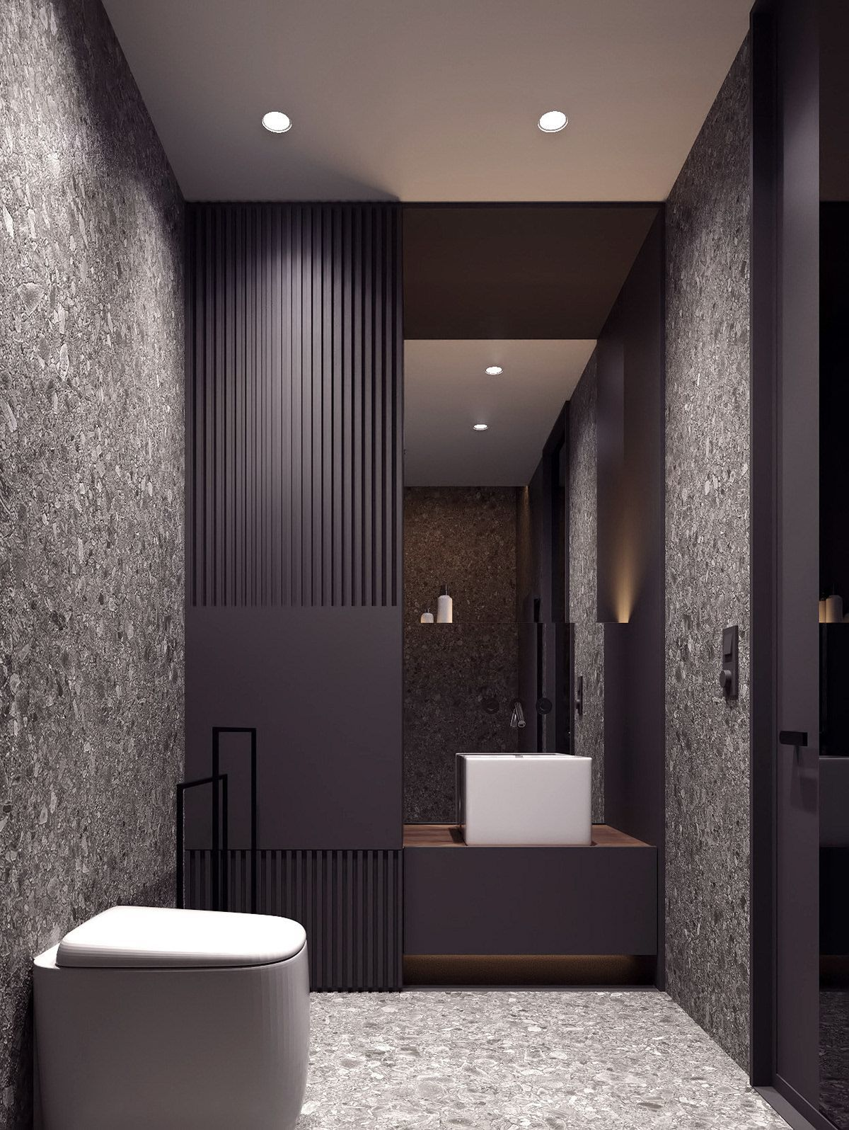 Meshberg Group Are Known For Their Minimalistic Bathroom Designs