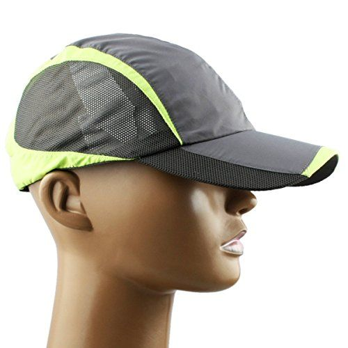 Samtree Unisex Lightweight Ultra Thin Running Sport Cap Sun Protection Hat(Style 1-Dark Grey) -- Read review @