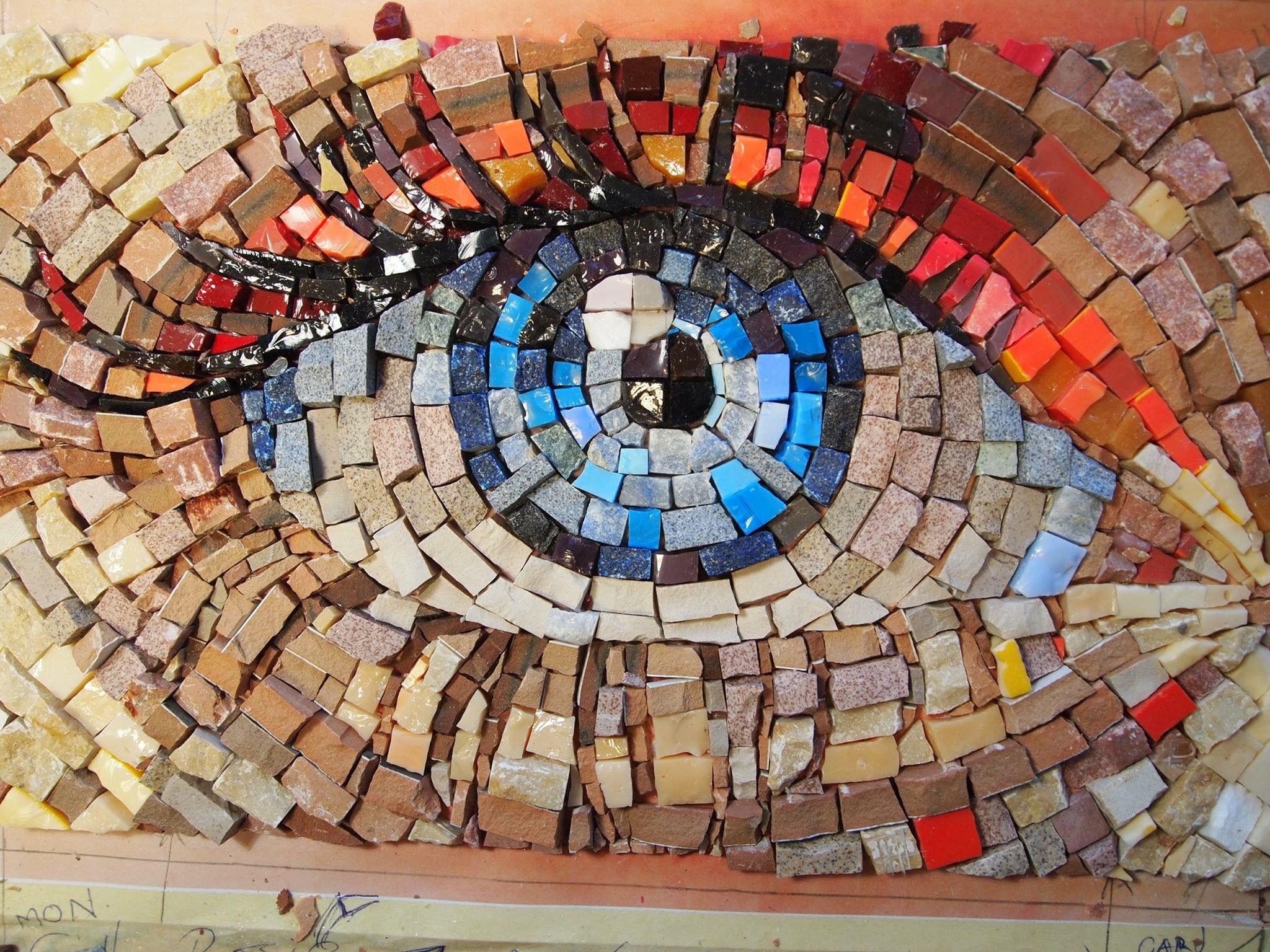 Spagna barcellona mosaico geometrico piastrelle per pavimento
