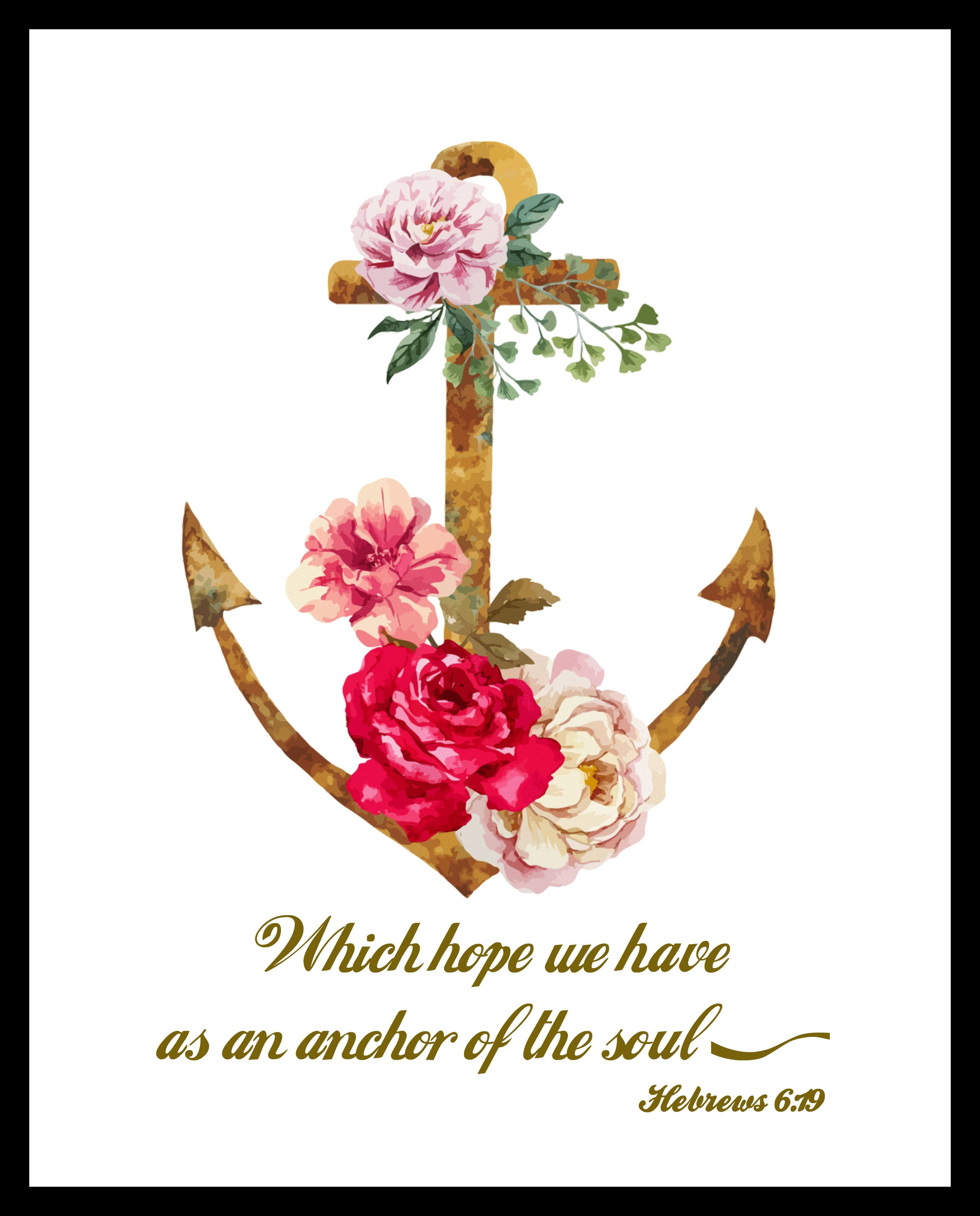 Which hope we have as an anchor wall decor unframed