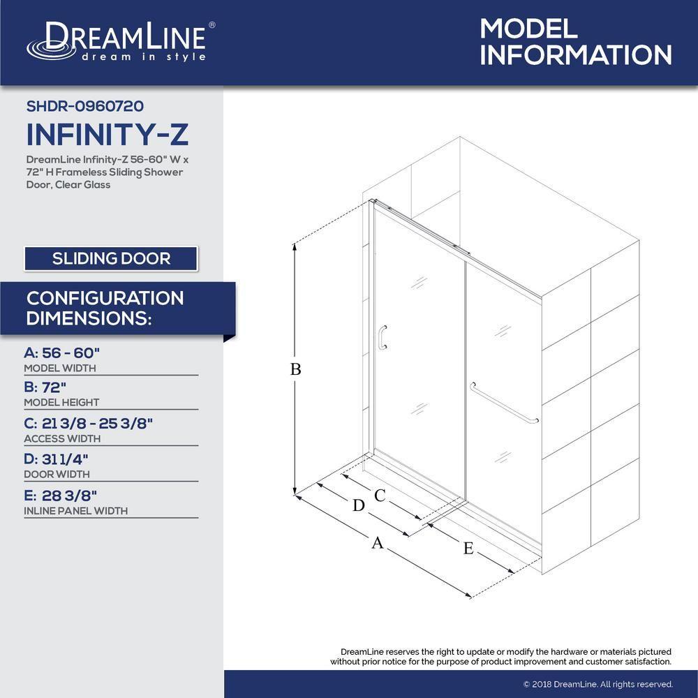 Dreamline infinityz in to in x in semiframed sliding