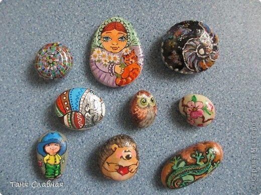 Декор предметов Рисование и живопись Морские камушки ...