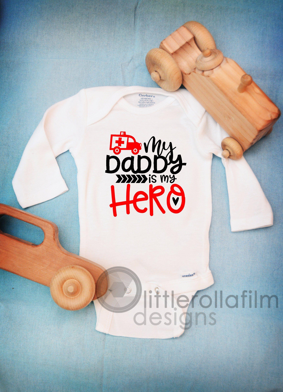 FIREMAN BODY SUIT PERSONALISED MUMMY/'S LITTLE BABY GROW NEWBORN GIFT