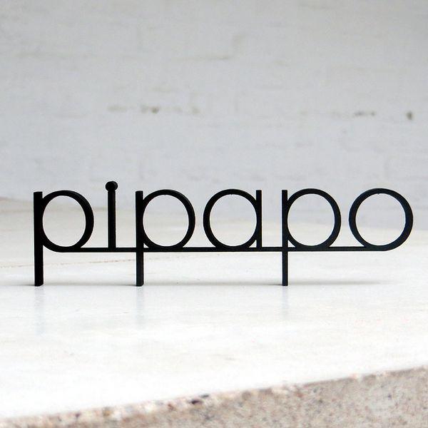 """""""pipapo"""" Deko Holzschriftzug von NOGALLERY 3D Schriftzüge"""