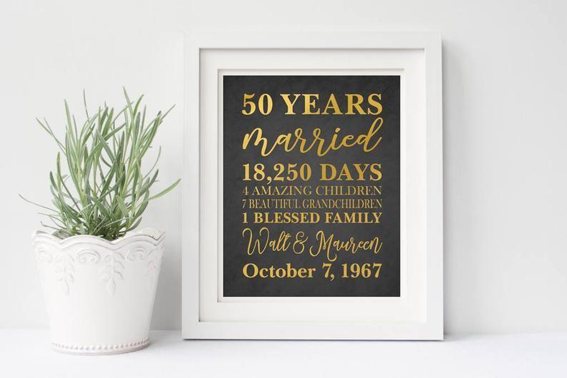 50th anniversary gift 50th wedding anniversary gift 50th