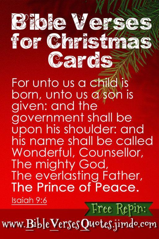 Christmas Bible Verses For Christmas Cards