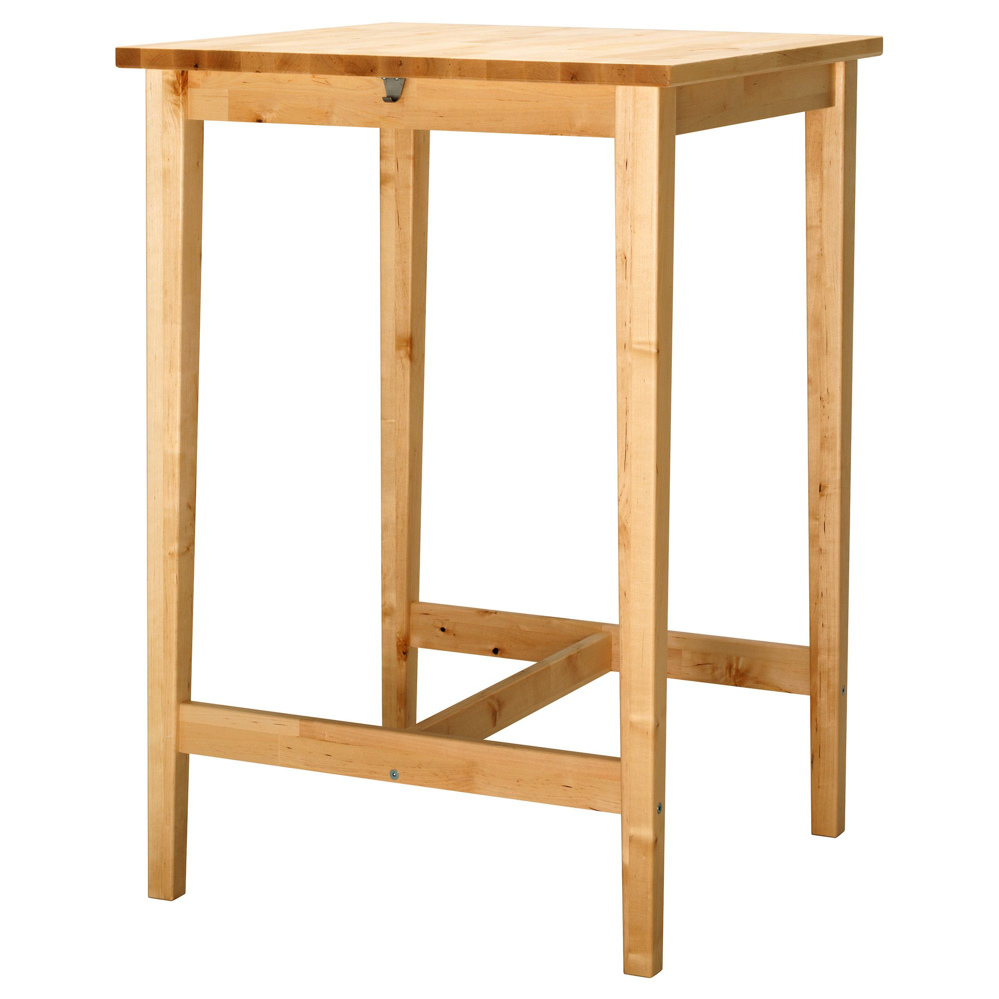 BJ–RKUDDEN Bar table IKEA three of these would fit against the