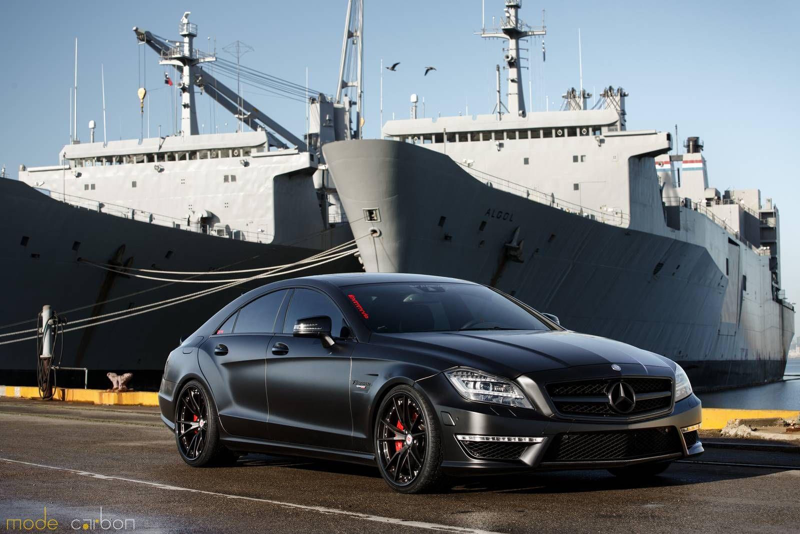 Matte Black Mercedes Benz Cls63 Amg S By Mode Carbon Black Mercedes Benz Mercedes Benz Cls Mercedes Benz