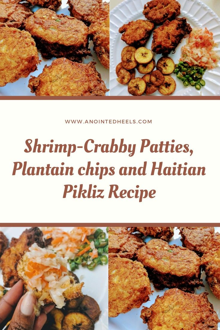 Shrimp Crabby Patties, Plaintains chips with Haitian ...