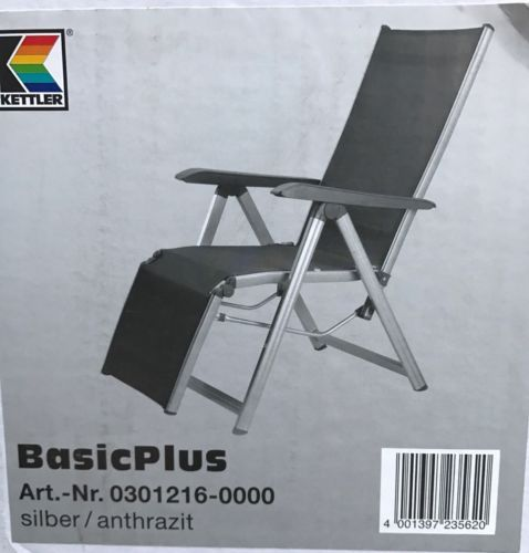 Relaxsessel Basic Plus Kettler Gartenmöbel in Aluminium Outdoor ...