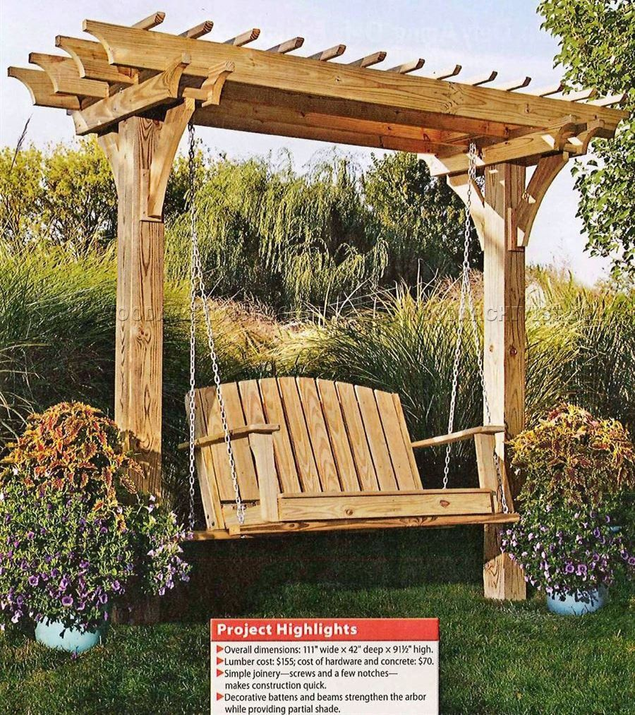Build a swing; great to have in a garden.