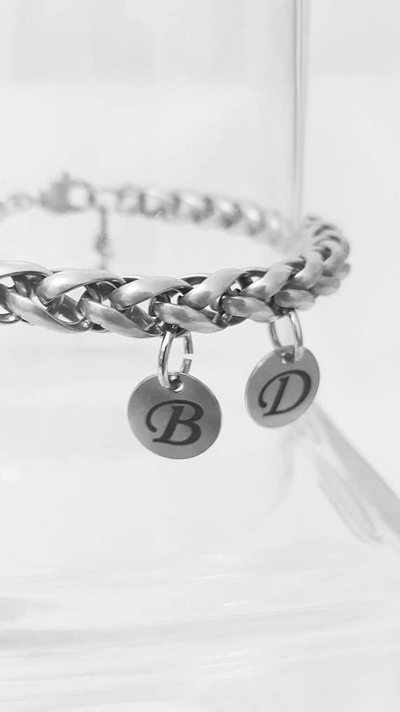 Silver Bracelet Initials Customize