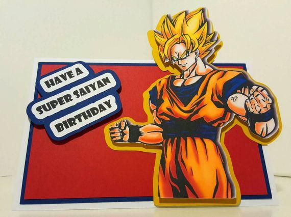 Dragon Ball Z Birthday Card Birthday Cards Hand Painted Mugs Cards