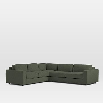 Urban Set 8: Left Arm 2 Seater Sofa, Corner, Right Arm 3 Seater Sofa, Heathered Tweed, Leek