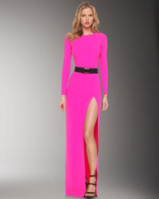 Get The Jennifer Lopez Idol Look With Michael Kors Very Pink Slash Gown