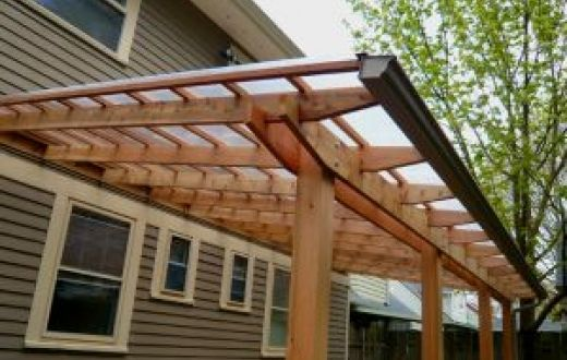 Deck designs with a clear roof outside up shelters decks for Balcony roof ideas