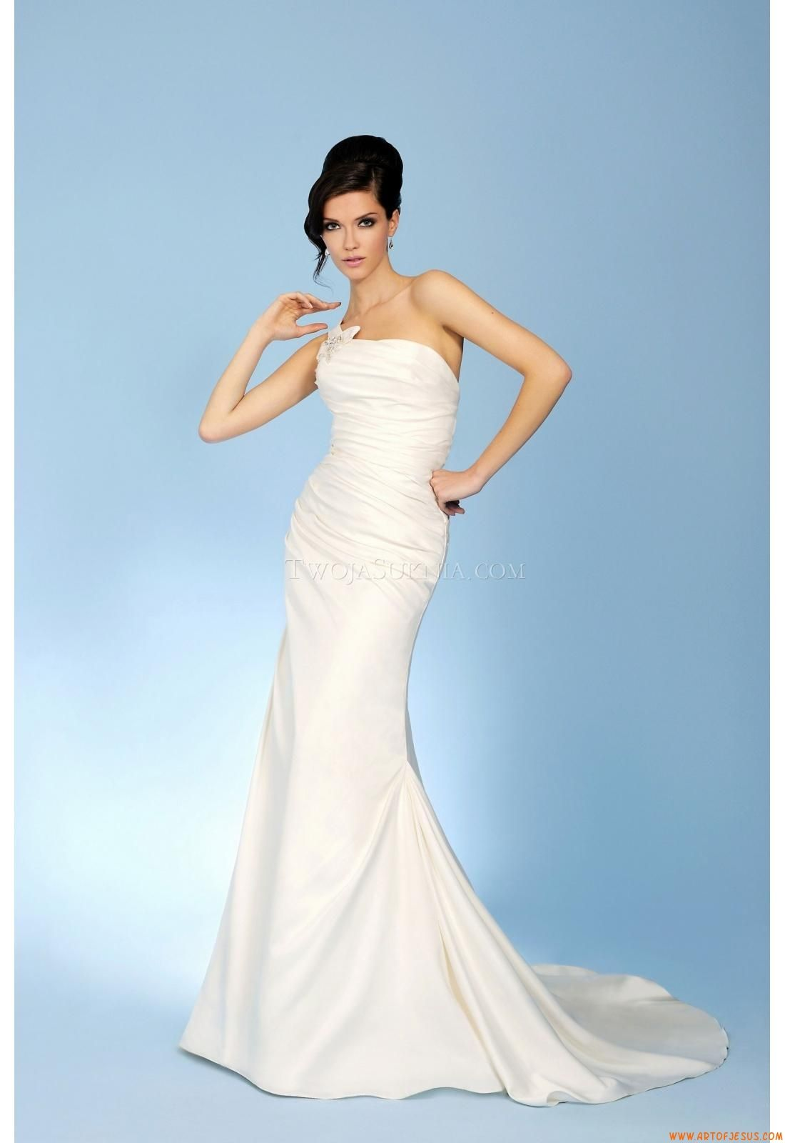 Elegant One Shoulder Sheath Court Train Wedding Dress China Trudy ...