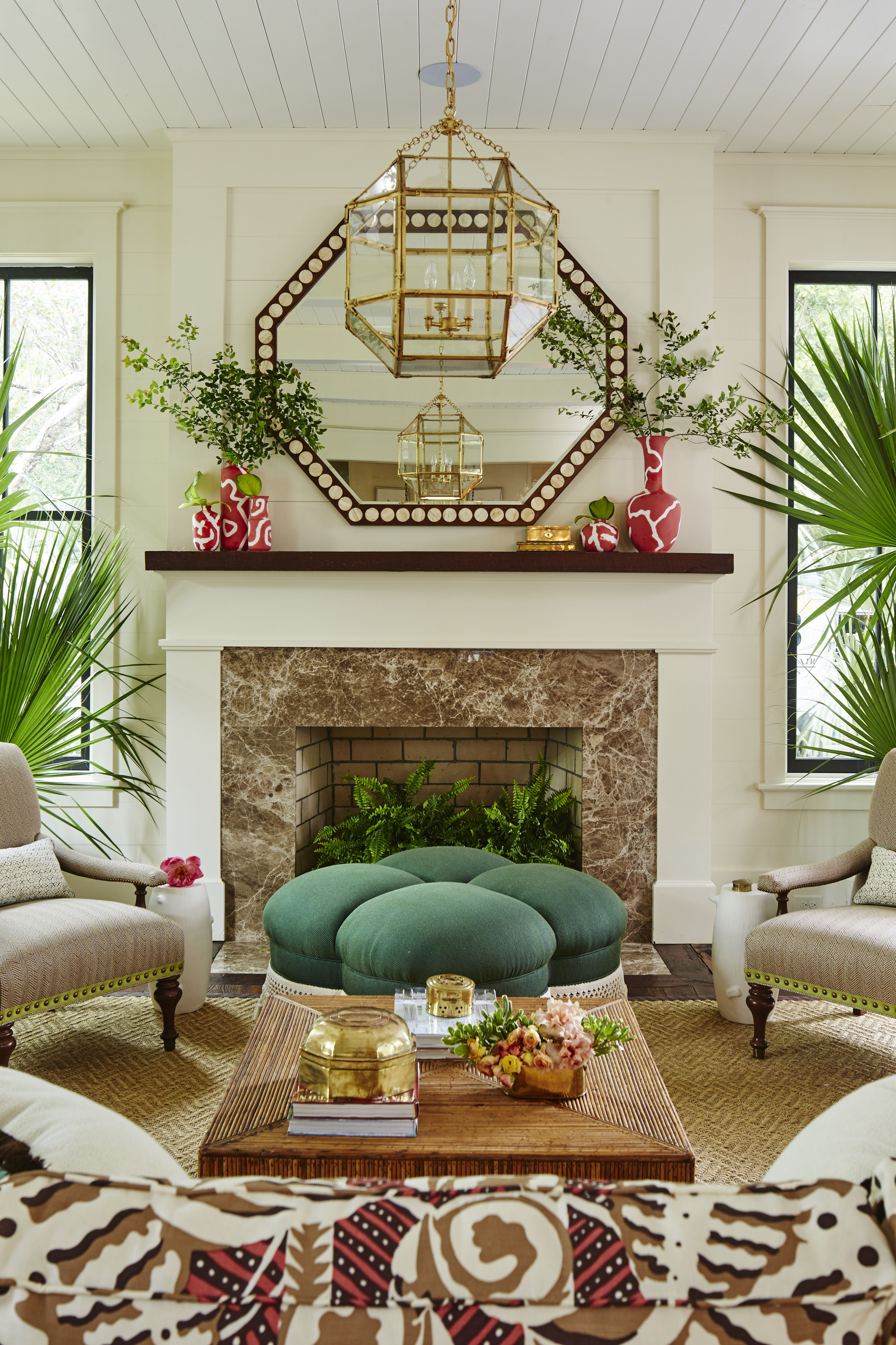 The impeccable southern living magazine idea house featuring  beautifully decorated firerock fireplace photography by laurey glenn also rh pinterest