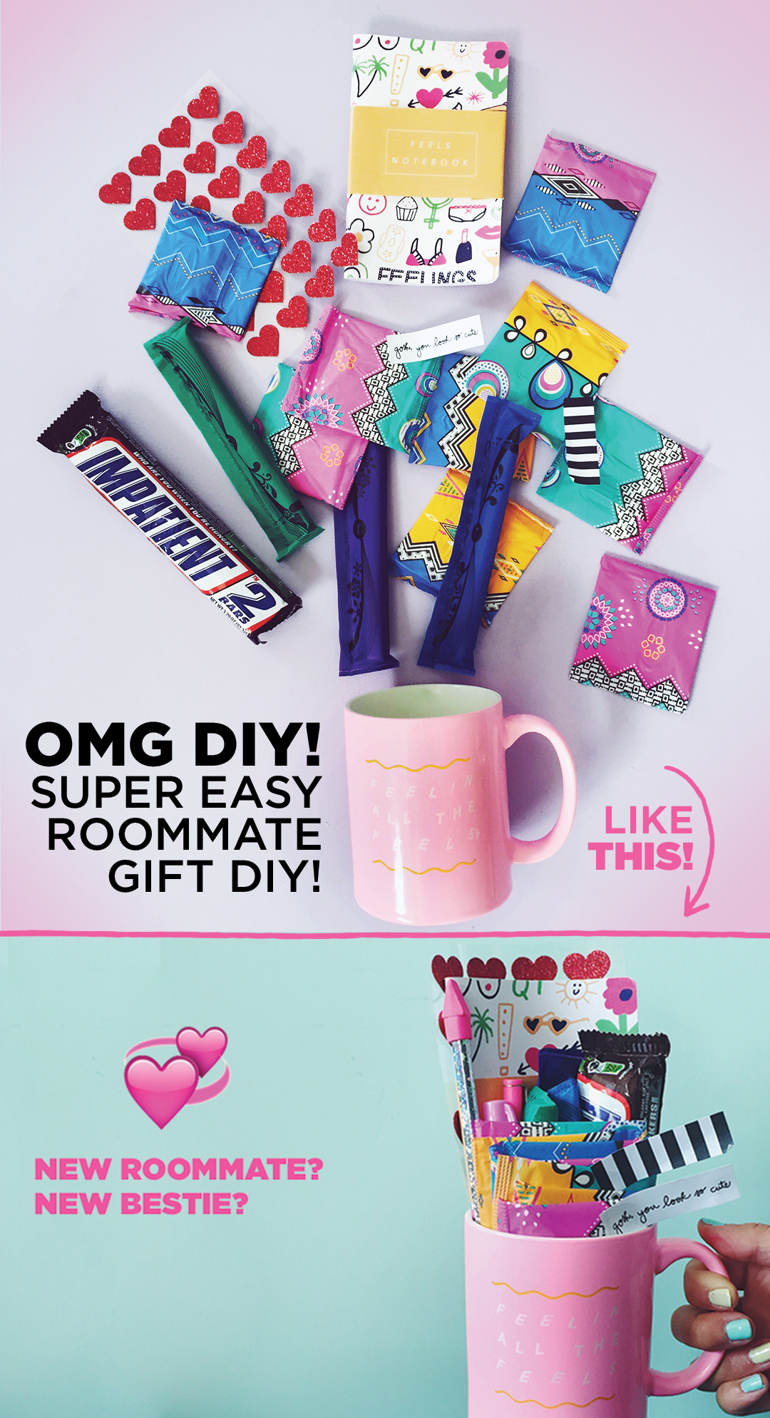 Assemble This Super Fun Diy Roommate Gift By Filling A Mug