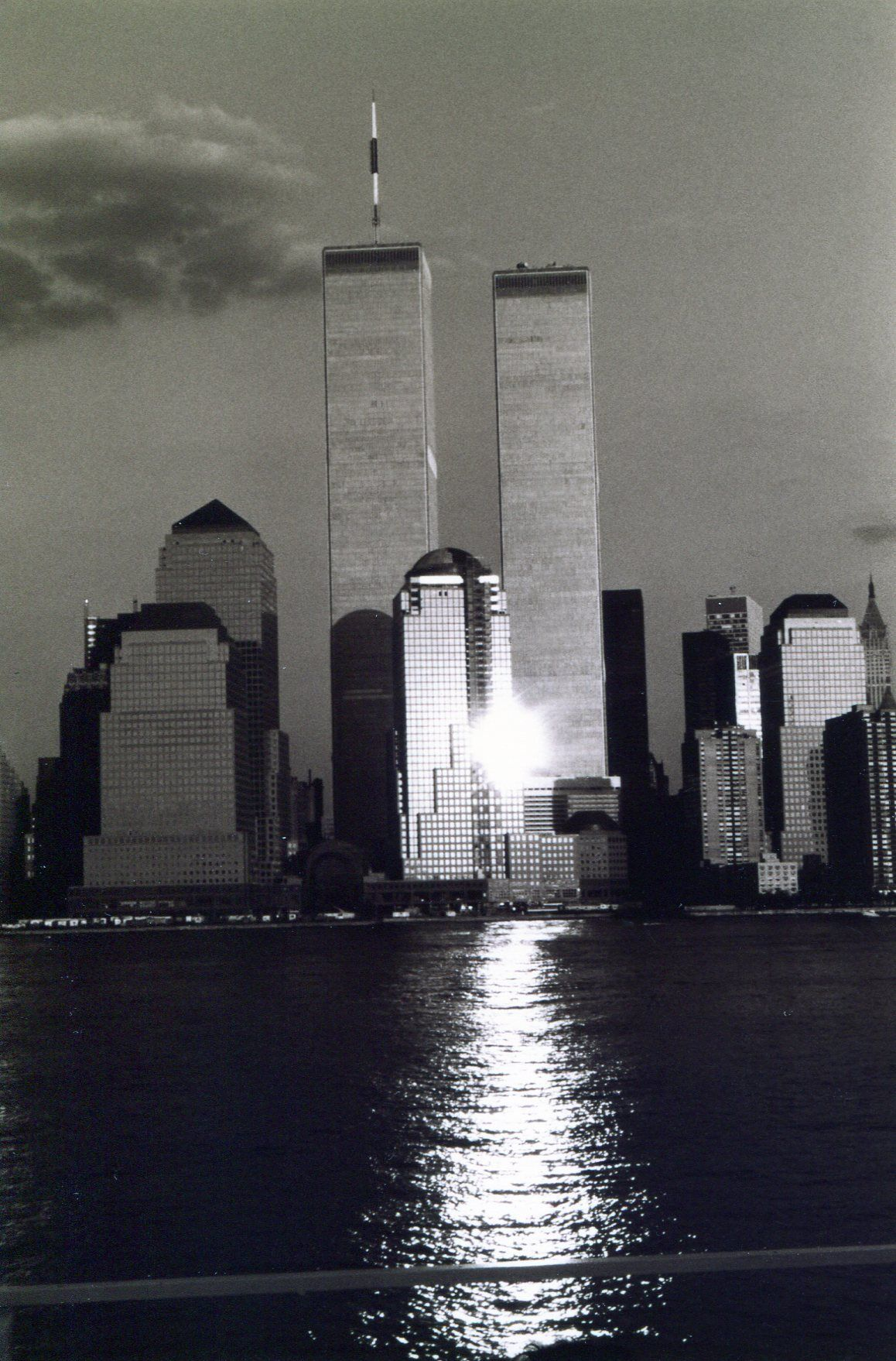 World Trade Center Taken By George Kanatous From The Brooklyn