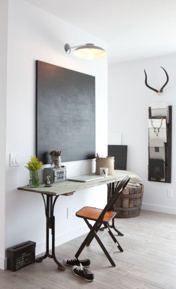 How decorate a wall with a blackboard hometailoring for Design ufficio casa