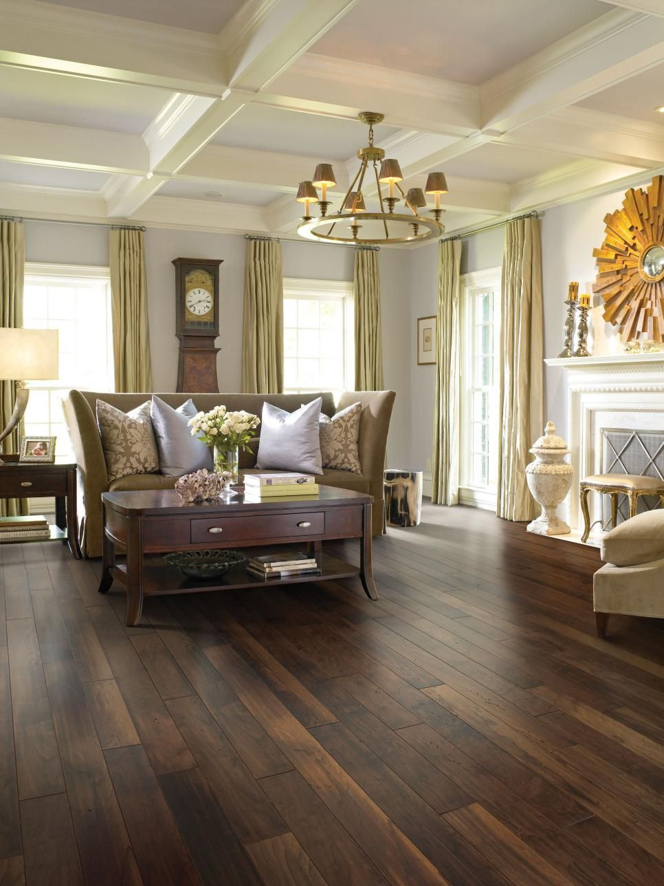 Distressed Hardwood Floors Are Surprisingly At Home To A Formal Living  Space. Shaw Epic®