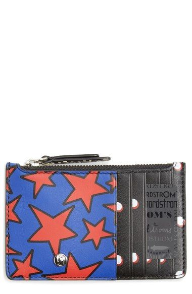 MARC JACOBS Printed Leather Zip Wallet. #marcjacobs #