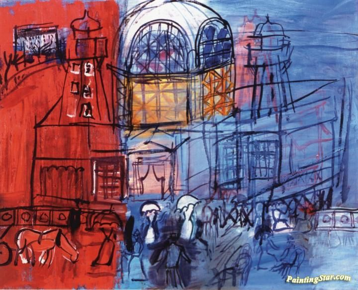 The Casino on the Pier at Nice Artwork by Raoul Dufy Hand-painted and Art Prints on canvas for sale,you can custom the size and frame