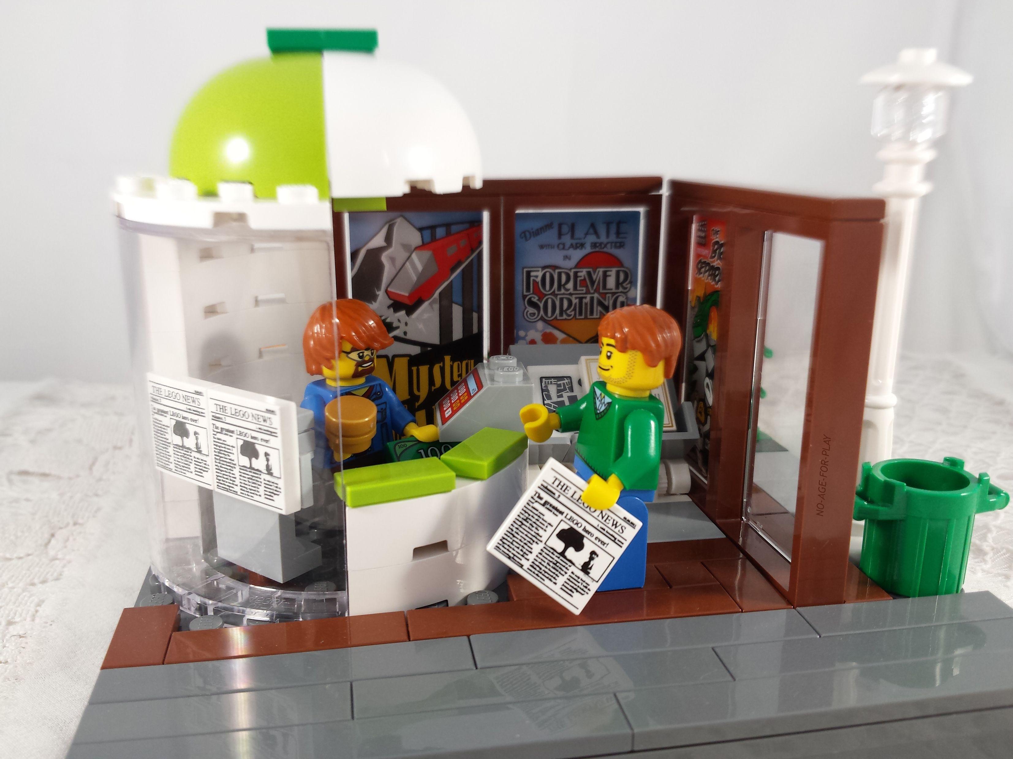 Lego Furniture Moc Lego Noageforplay Kiosque A Journaux Newspaper Stand Lego