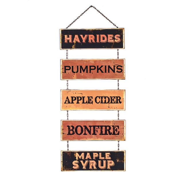 Wall Sign Decor Interesting Ragon House 39'' Fall Favorites Wall Sign $23 ❤ Liked On 2018