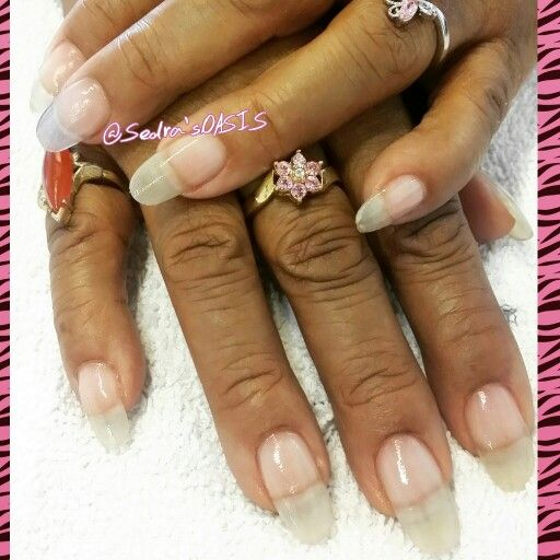 Healthy Nail Care Natural Nails W Acrylic Overlay For Added Strength Enough No Polish