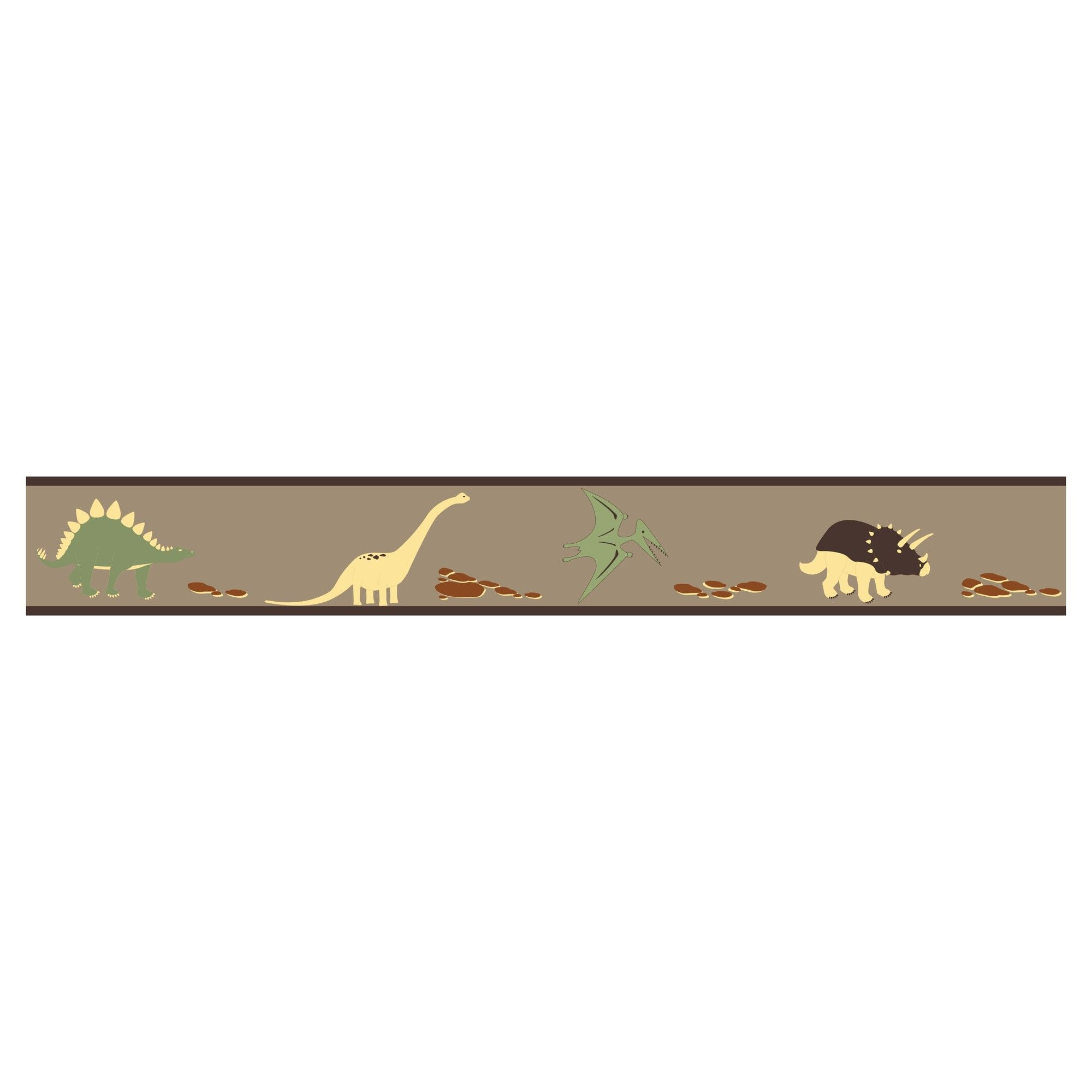 Brown & Red Dinosaur Land Wall Border Sweet Jojo Designs