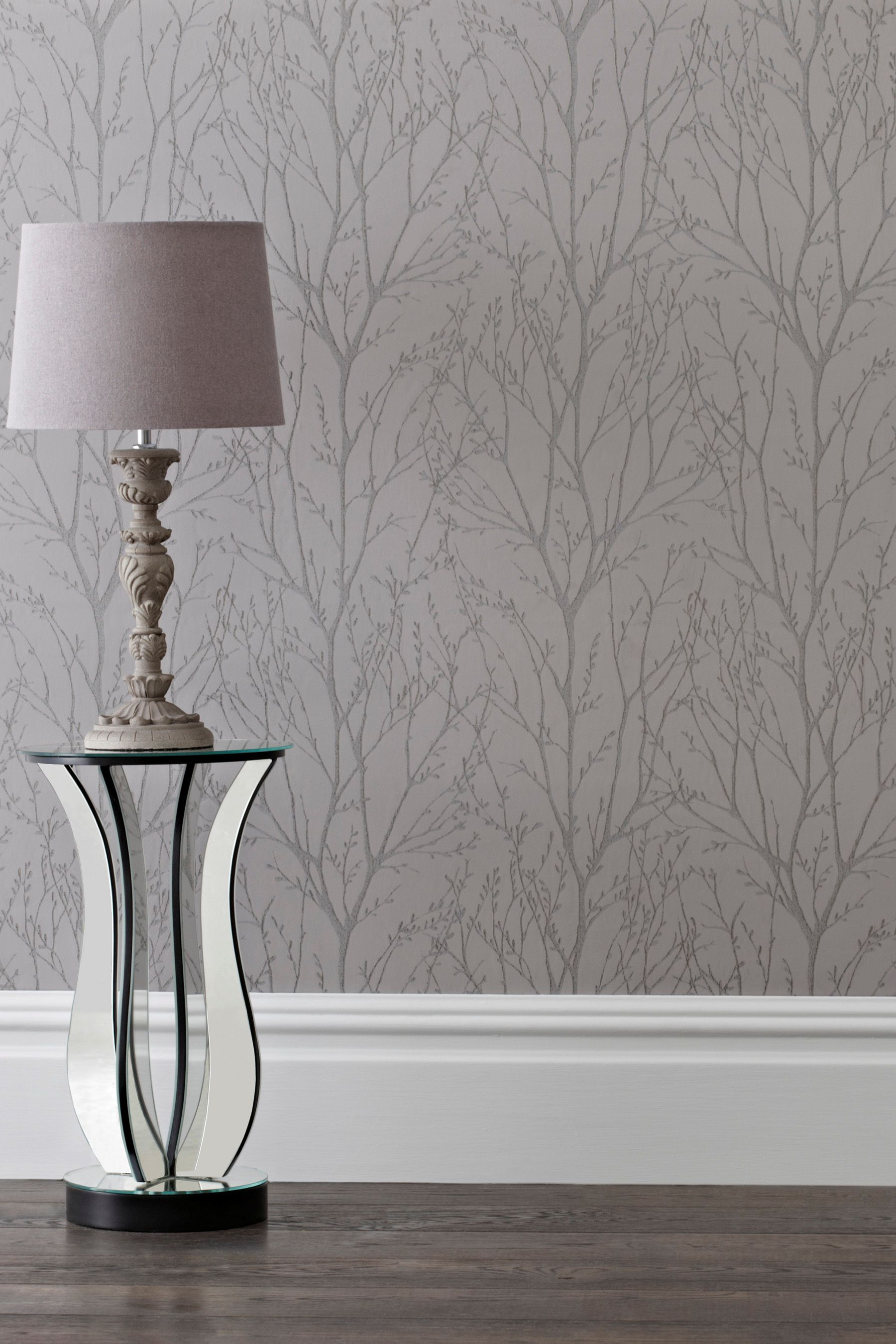 Buy Pewter Twigs Wallpaper From The Next Uk Online Shop Si