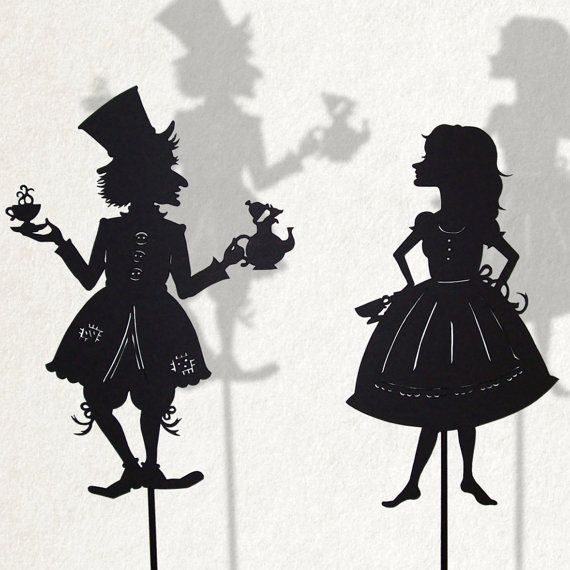 Alice and the Madhatter/ Laser cut Shadow Puppets by IsabellasArt, beautiful!