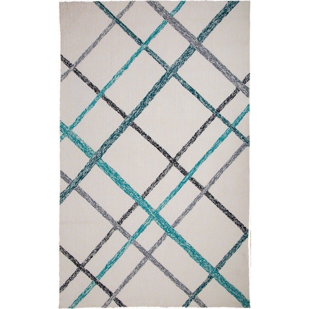 Trading Hand Tufted Chinese Lienzo Ivory Turquoise Rug 9 X 12  # Muebles Nadir Escalada
